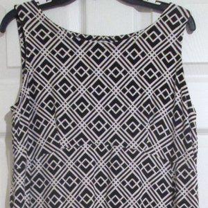 JM Collection Black & White Print A-line Dress M